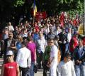 Sute de oameni au protestat împotriva guvernului Boc, 'de bolşevici', care a tăiat Bihorul de pe lista finanţărilor (FOTO)