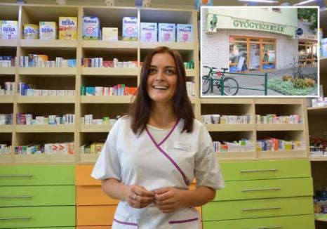Corina de la 'Gyógyszertár': O orădeancă a ajuns faimoasă în oraşul ungar Gyula, unde e singura farmacistă vorbitoare de română