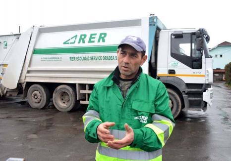 Cetăţeanul de la RER: O faptă bună l-a făcut pe un gunoier orădean vedetă pe Facebook
