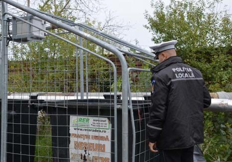 Amendă pentru fentă: Poliţia Locală Oradea a amendat, într-o singură zi, 21 de firme care aruncau deşeuri menajere în containerele de reciclabile