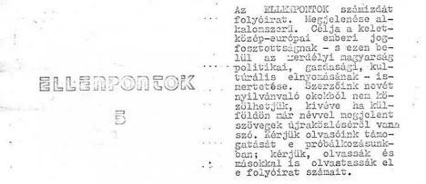 Cazul 'Contrapuncte': Securitatea şi Miliţia au investigat în anii '80 apariţia la Oradea a unei publicaţii clandestine în limba maghiară (FOTO)