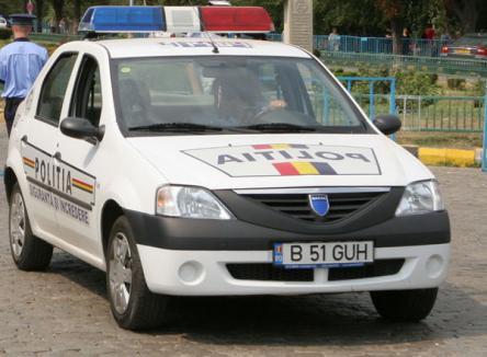 Poliţia Română, amendată pentru că a dotat prea scump Loganurile