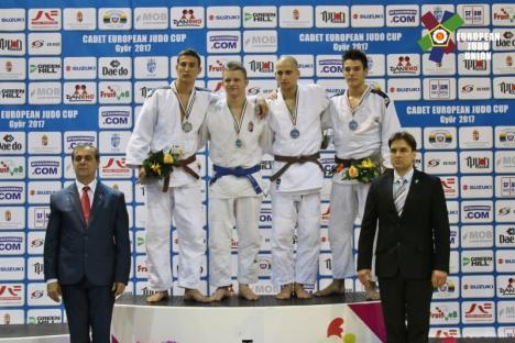 Orădeanul Alex George Creţ, medaliat cu bronz la Cupa Europeană de judo pentru cadeţi din Ungaria!