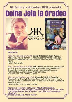 Lecţii de la scriitoarea şi jurnalista Doina Jela pentru elevii şi studenţii orădeni