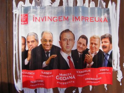Cartierele Oradiei, invadate de afişe cu mesaj anti-PSD
