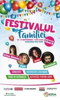 Festivalul Familiei, la ERA Park: Spectacole pentru copii şi super concerte cu Ami, Irina Rimes, Vanotek şi Feli