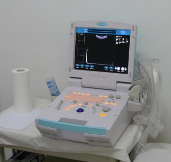 Noul ecograf pus în funcţiune la Spitalul TBC
