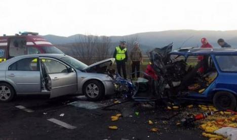 Un bihorean de 30 de ani, implicat într-un grav accident, în judeţul Hunedoara