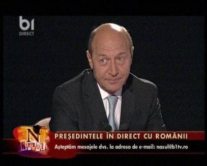 Băsescu recunoaşte că l-a 'împins' pe copil (VIDEO)