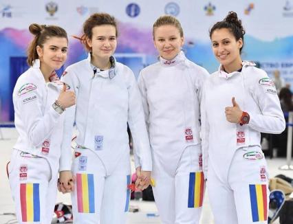 Bianca Benea, locul VI, cu echipa României la Campionatul European de Scrimă pentru Cadeţi şi Juniori din Rusia