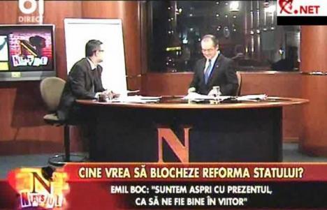 Boc la TV, protestatarul la fereastră (VIDEO)