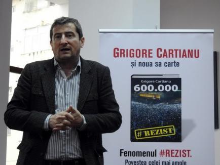 Grigore Cartianu lansează la Oradea volumul '600.000' cu povestea fenomenului #Rezist