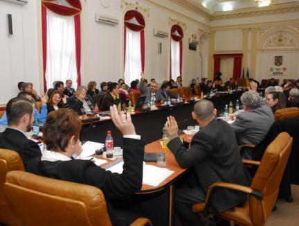 Bugetul de criză al Consiliului Judeţean, votat aproape în unanimitate