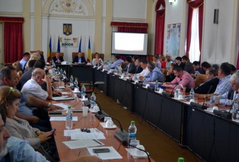 Istoria se repetă la CJ Bihor: Liberalii au respins din nou un proiect al AJOFM, aşa că triada UDMR-PSD-ALDE nu-i mai dă lui Bolojan un teren