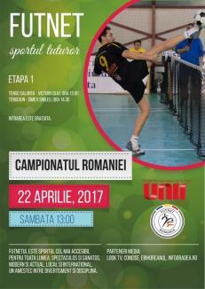 Campionatul României la Futnet debutează, sâmbătă, la Salonta cu un cuplaj