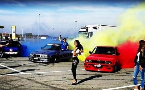 Tricolorul făcut din fum de anvelope, într-un videoclip filmat în Oradea (VIDEO)