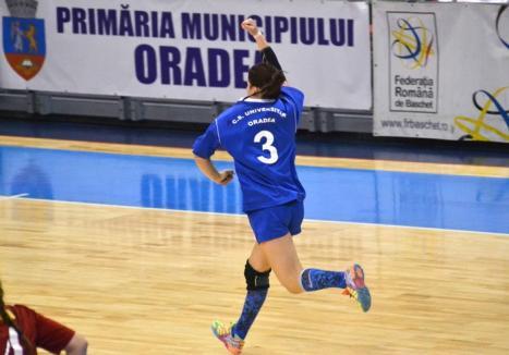 Handbalistele de la CSU Oradea au învins echipa din Reşiţa cu scorul de 28-25