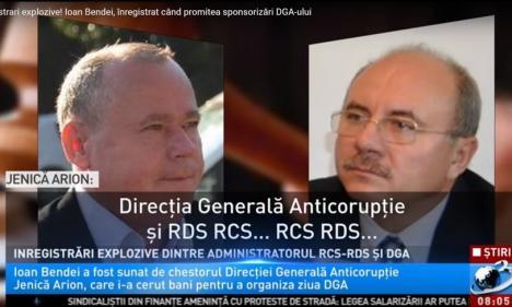Şeful RCS&RDS, Ioan Bendei, înregistrat când promitea sponsorizări pentru DGA și şpăgi pentru un poliţist DNA! (VIDEO)