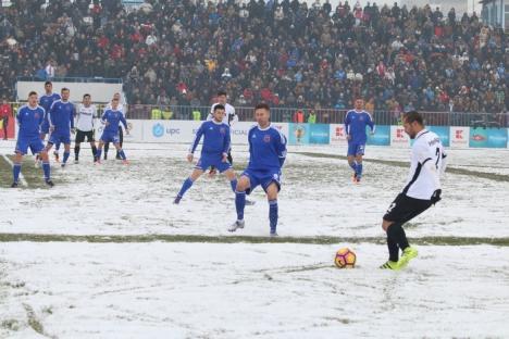 La meci, în frig