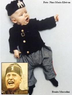 O femeie şi-a deghizat bebeluşul în dictatorii secolului XX (FOTO)