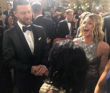 Nadia Comăneci a strălucit pe covorul roşu la Globurile de Aur şi s-a întâlnit cu Justin Timberlake şi Nicole Kidman (FOTO)