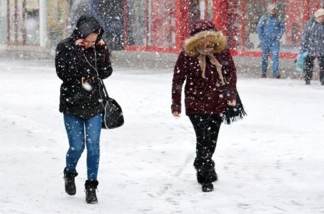 Informare meteo: Lapoviţă şi ninsoare, în Bihor