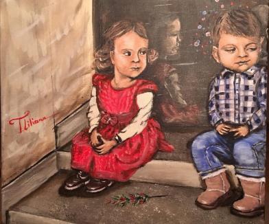 'Poveştile copilăriei': Expoziţie de pictură a orădencei Liliana Tocuţiu, la Cetate