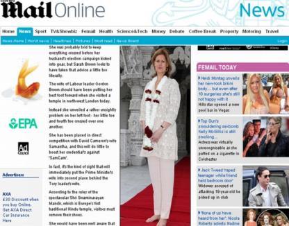 Soţia premierului britanic sperie fotografii cu pedichiura 'monstruoasă'