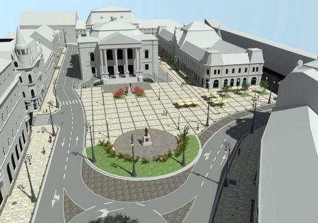 Vă place? Piaţa Ferdinand va fi pietruită şi transformată în arteră pietonală (FOTO)