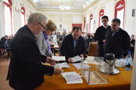 Şedinţă de 3 ore la CJ Bihor. Liberalii acuză: 'Investiţiile sunt praf, semănăm cu Guvernul Tudose...' (FOTO)