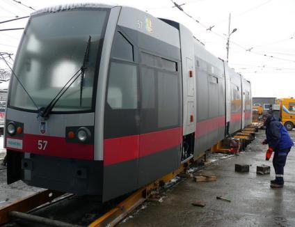 Un tramvai Siemens a deraiat