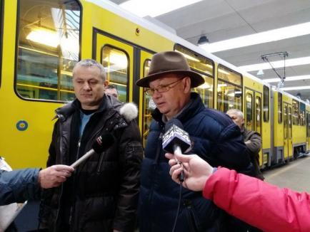 Tramvaiele second-hand Tatra din Berlin, prezentate publicului. Viceprimarul Mircea Mălan: 'Vrem să mai cumpărăm 20' (FOTO/VIDEO)