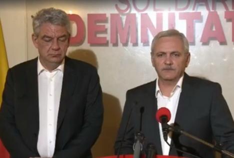 Conducerea PSD a acceptat demisiile a trei miniştri, Dragnea şi Tudose nu reuşesc să explice deciziile (VIDEO)