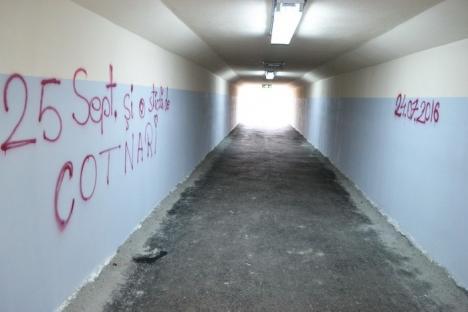 Tunelul din strada Ştefan cel Mare a fost vandalizat la două zile după inaugurare (FOTO)