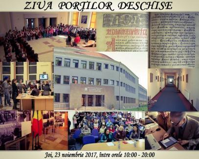 Ziua porţilor deschise la Biblioteca Judeţeană: concerte, vizionări de filme şi un atelier de cusut ie