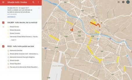 Atenție, şoferi! Primăria a lansat harta interactivă a străzilor afectate de lucrări în Oradea