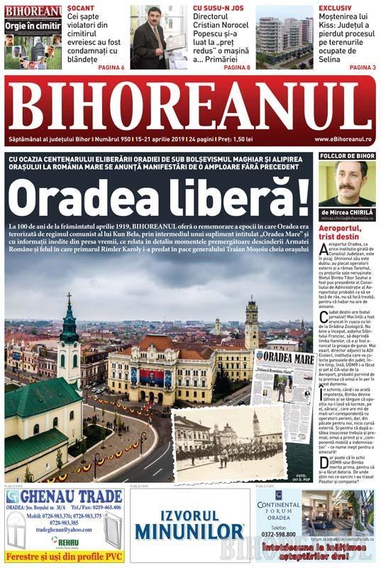 Nu rataţi BIHOREANUL tipărit: De Centenarul eliberării Oradiei, o rememorare a evenimentelor care au dus la integrarea oraşului în România Mare
