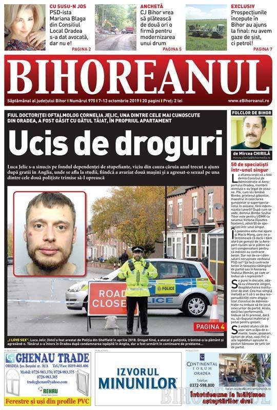 Nu ratați noul BIHOREANUL tipărit: Fiul unei cunoscute doctoriţe din Oradea a fost găsit cu gâtul tăiat, în propriul apartament