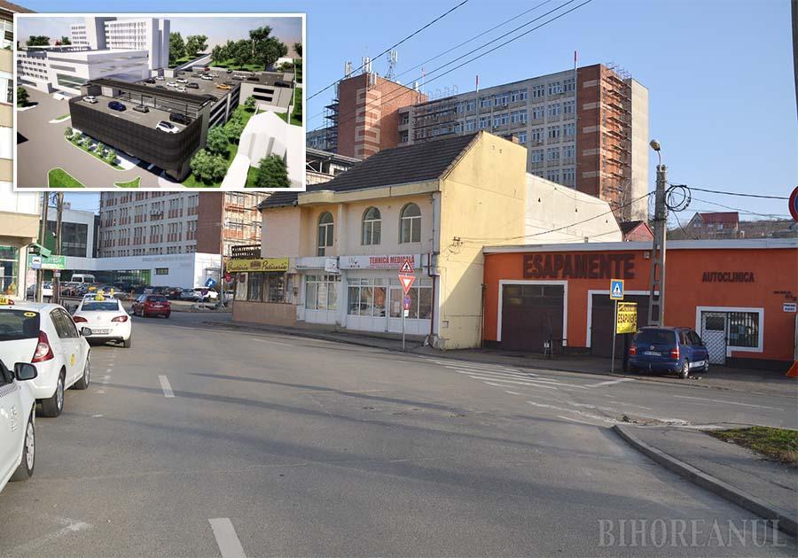 """VINE DEMOLAREA! Municipalitatea va demola trei case, două spaţii comerciale şi un atelier din strada Gheorghe Doja, pentru a amenaja o parcare cu 571 de locuri dispuse pe trei niveluri şi o terasă. """"Exproprierea era singura soluţie. Zona are nevoie urgentă de o parcare, iar aceasta trebuia să fie cât mai aproape de clădirea spitalului, ca să poată fi legată de el printr-o pasarelă. Nu putea fi făcută altundeva"""", spune primarul Florin Birta"""