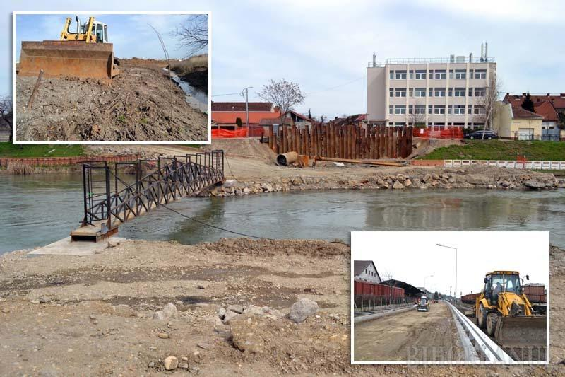 ÎN LUCRU. Pe lunga listă a şantierelor se numără amenajarea Pieţei Obor în vecinătatea cartierului Europa (stânga), construirea Podului Centenarului (centru), dar şi o restanţă: finalizarea drumului rapid pe porţiunea ce traversează fostul depou CFR (dreapta)