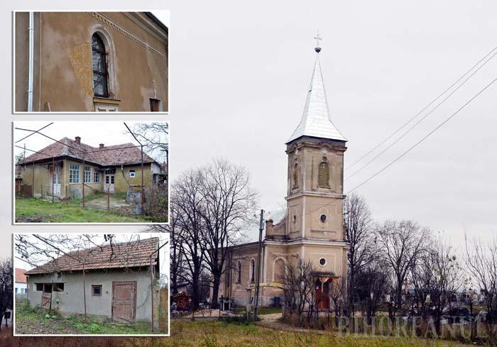 """PĂRĂSEALA. Locuitorii din Sărand îl acuză pe preotul ortodox Mircea Opriş că le-a lăsat biserica şi casa parohială în părăseală pentru a se îngriji numai de propriul buzunar. """"Dacă biserica era pictată şi casa parohială îngrijită, nu comenta nimeni că părintele nu dă chitanţă. Aşa, oamenii sunt nemulţumiţi"""", spune primarul Liviu Gurău"""