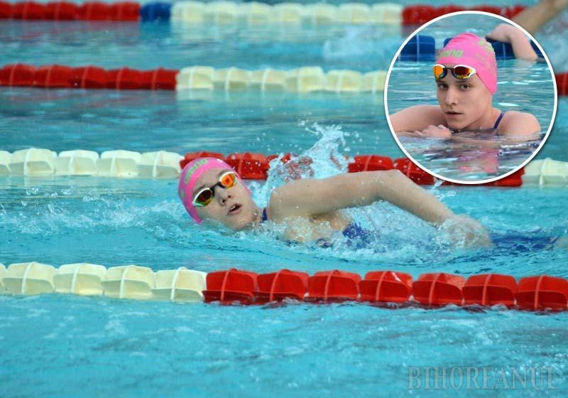 Ambiţioasa Ingrid: La 15 ani, orădeanca Ingrid Huszár este una dintre cele mai bune înotătoare din România (FOTO)