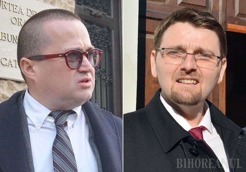 """ÎN DUEL. Avocatul Nelei Secară, Răzvan Doseanu (stânga), un răsfăţat al Antenei 3 după faimoasa înregistrare din DNA Oradea, a evitat să comenteze pentru BIHOREANUL """"cazul Secară"""", în schimb, procurorul Cristian Ardelean (dreapta) îl """"leagă"""" de el. """"Inculpaţii şi avocaţii lor care atacă procurori şi judecători mizează pe faptul că magistraţii au obligaţia de rezervă. Noi nu putem avea reacţii după fiecare atac în media"""", spune Ardelean, convins că """"alăturarea cazului Secară de DNA face parte dintr-un plan de demonizare a justiţiei"""". Scopul? Procurorii să nu mai facă anchete, iar judecătorii doar să achite..."""