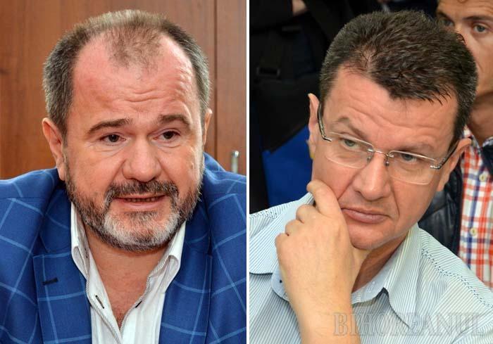"""FRAŢI DE CHIUL. Într-un interviu recent acordat BIHOREANULUI, decanul Facultăţii de Medicină, Adrian Maghiar (stânga), se plângea că el şi fratele său, Doru Maghiar (dreapta), au """"suferit toate repercusiunile ca să se dezvolte Universitatea"""", chit că, după scandalul diplomelor false eliberate sub semnătura lor şi a tatălui lor, defunctul Teodor Maghiar, singura lor suferinţă a fost proasta reputaţie. Amândoi dovedesc că n-au învăţat nimic din lecţiile trecutului şi că nu s-au dezbărat de năravurile """"sorboneşti"""": nu îşi ţin cursurile, fiind înlocuiţi de asistenţi mai tineri, care aspiră la o carieră universitară şi ştiu că pentru a o obţine trebuie să se aibă bine cu """"fraţii Maghiar""""..."""
