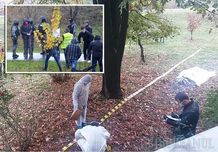 """PLIMBARE ÎN CĂTUŞE. În dimineaţa de 21 noiembrie, Sorin Rogia a fost dus încătuşat la locul crimei, arătând anchetatorilor banca unde şi-a ucis singurul prieten, cum i-a târât cadavrul sub copacul unde a fost găsit, cum l-a dezbrăcat şi l-a acoperit cu frunze, oprindu-se din când în când ca să se asigure, """"să nu fiu observat"""". Împreună cu criminalul, anchetatorii i-au reconstituit şi traseul spre casă, pe drum Rogia indicându-le locul unde a aruncat în apă telefonul victimei şi pubela în care a lăsat arma crimei"""