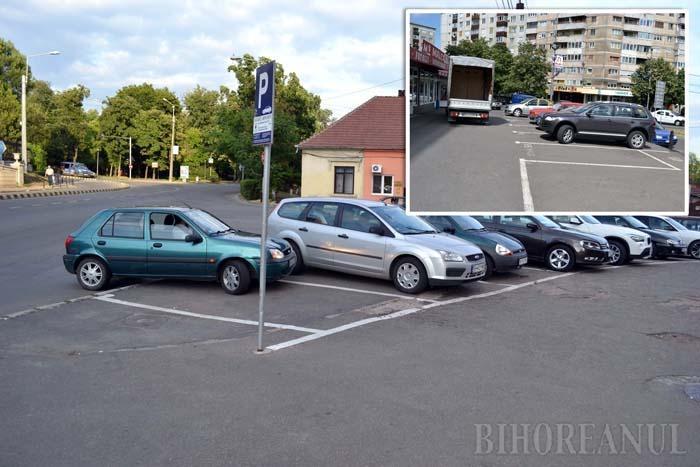 FĂRĂ AVIZ! Administraţia Imobiliară trasează locuri de parcare fără avizul Poliţiei Rutiere, impus de lege. Parcările cu plată de la intersecţia Bulevardului Dacia cu strada Menumorut (foto stânga) şi cele de domiciliu din strada Transilvaniei (foto dreapta), de pildă, au fost înfiinţate chiar cu sfidarea avizului explicit negativ al Poliţiei, ceea ce poate pune sub semnul întrebării legalitatea lor şi a încasărilor realizate de municipalitate