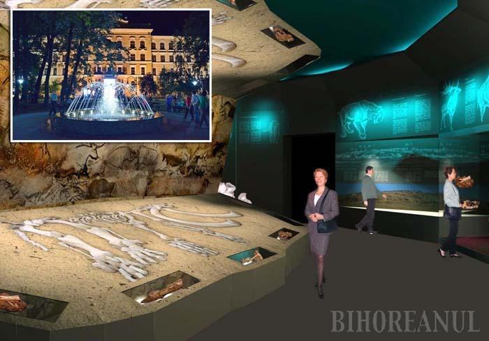 """ANIMAT. Una dintre cele mai spectaculoase săli ale noului muzeu este a secţiei de Istorie, care va adăposti mastodontul descoperit prin săpături arheologice chiar în Oradea. Acesta va fi expus într-un cadru special şi """"reanimat"""" cu ajutorul unei holograme"""
