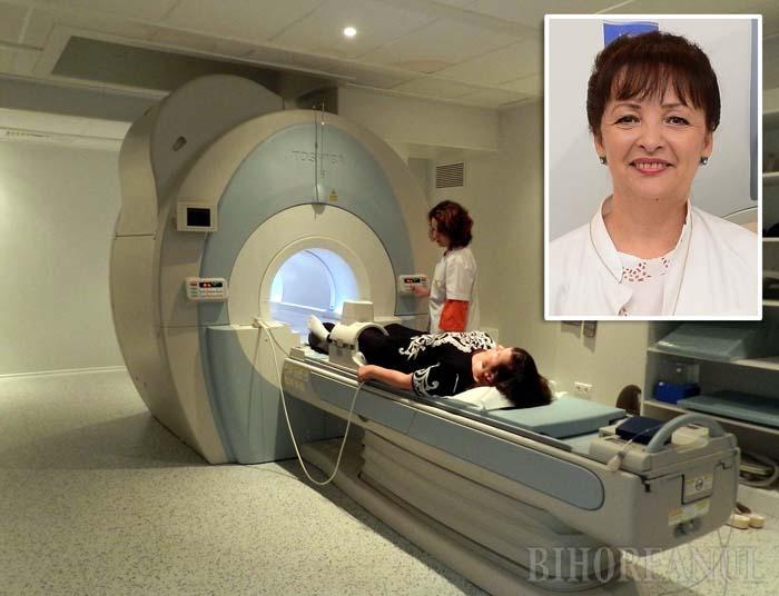 """OCHIUL ALFA. Considerată """"ochiul"""" specialităţilor chirurgicale, secţia de Imagistică şi Radiologie a Spitalului Judeţean este cea fără de care n-ar fi fost posibile performanţele din ultimii ani ale tuturor celorlalte. Dr. Liana Toc (medalion), şefa secţiei, spune că parteneriatul încheiat acum câţiva ani între conducerea Spitalului, a Primăriei şi a Ministerului Sănătăţii a fost hotărâtor, asigurând achiziţia întregii aparaturi necesare, la nivel de top"""