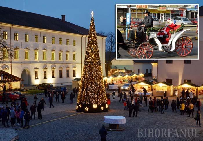 MOŞ ÎN CALEAŞCĂ. Anul acesta Moş Crăciun va porni de la Gară într-o caleaşcă trasă de cai spre Cetate, unde va împărţi cadouri şi va asista la un concert de colinde interpretat de copiii din grupul Vivere