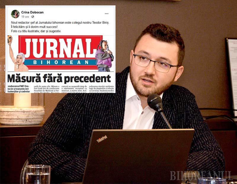 Dictatorul a (fost) zburat! Călin Corpaș, înlăturat de la conducerea Jurnalului Bihorean. Noul redactor șef - Teodor Biriș